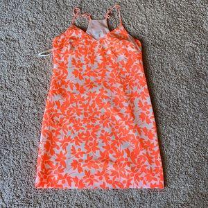 JCrew Neon Orange Dress